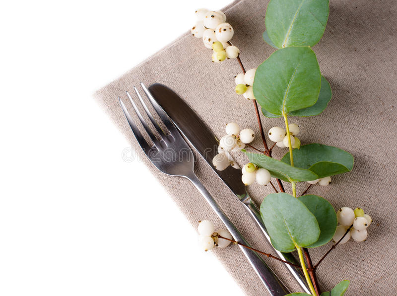 Download Festive Table Setting With Floral Decoration Stock Image - Image of elegance, fork: 33677951