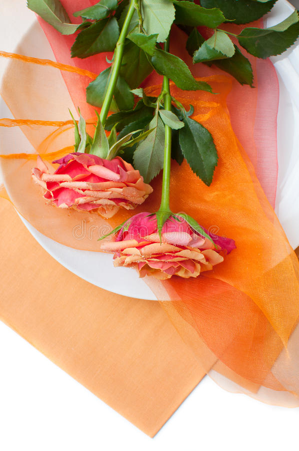 Download Festive Table Setting With Roses Stock Image - Image: 26034345