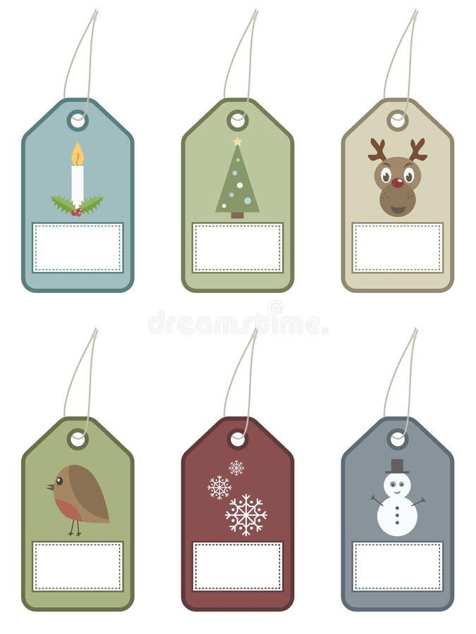 Festive tags stock illustration
