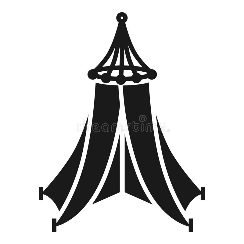 Festive tent icon, simple style stock illustration
