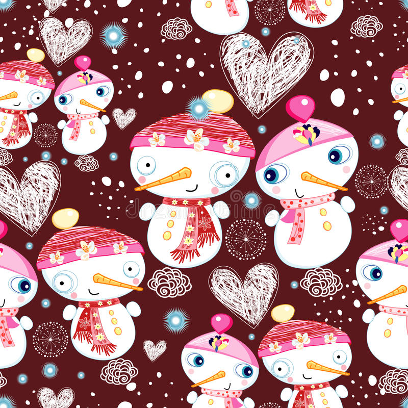 Download Festive Texture Of The Snowmen Stock Vector - Image: 27714451