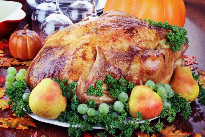 Festive Thanksgiving Dinner royalty free stock photography