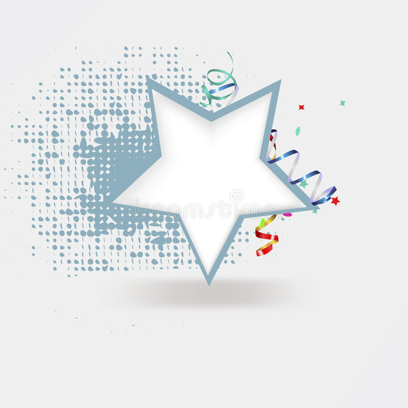 Festive vector background with star vector illustration
