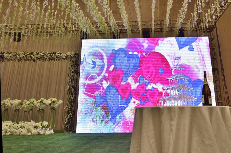 Festive wedding venue royalty free stock photo