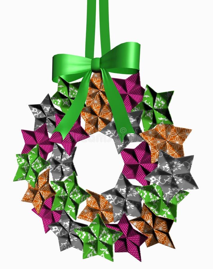 Download Festive wreath stock illustration. Image of vivid, ribbon - 27092429