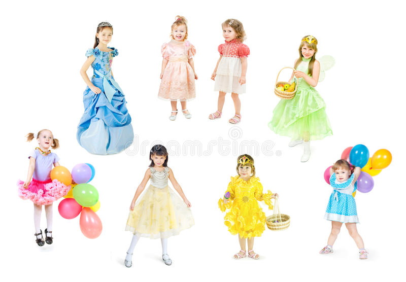 Download Festively dressed children stock image. Image of child - 18074225
