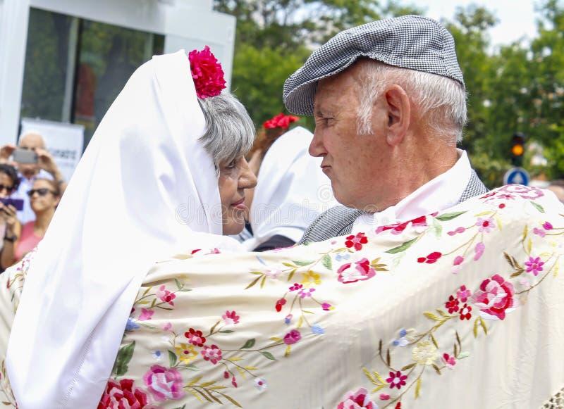 Festividad del ` de San Isidro del `, patrón de Madrid, el 15 de mayo de 2017, Madrid, España fotografía de archivo libre de regalías
