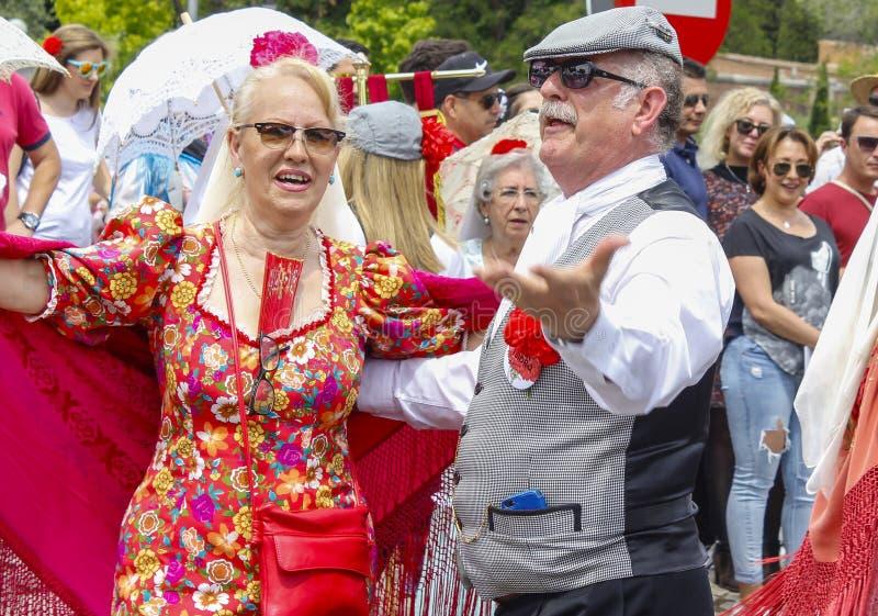 Festividad del ` de San Isidro del `, patrón de Madrid, el 15 de mayo de 2017, Madrid, España foto de archivo libre de regalías