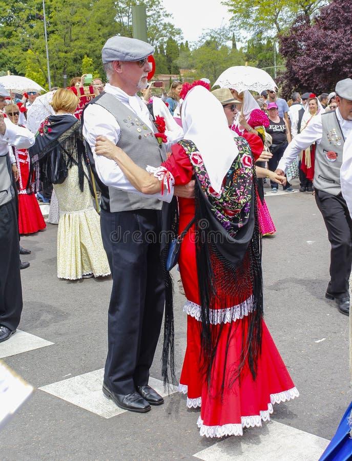 Festividad del ` de San Isidro del `, patrón de Madrid, el 15 de mayo de 2017, Madrid, España imagen de archivo libre de regalías