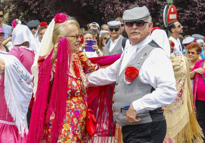 Festividad del ` de San Isidro del `, patrón de Madrid, el 15 de mayo de 2017, Madrid, España fotografía de archivo