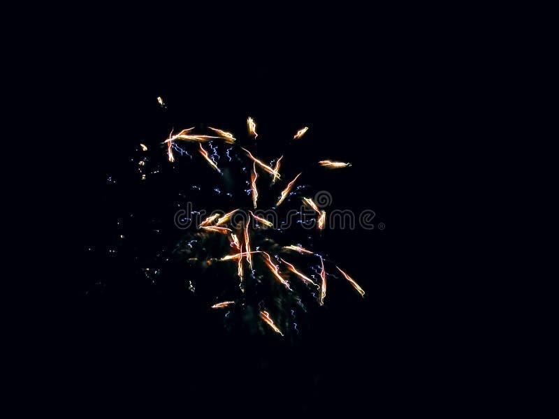 Festividad, fiesta, celebración Blue y Red Fireworks imagenes de archivo