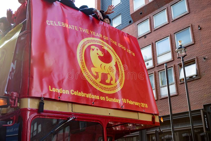 Festividades para celebrar Año Nuevo chino en Londres por año de imágenes de archivo libres de regalías