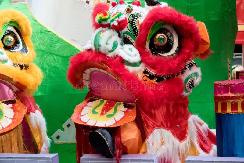 Festividades para celebrar Año Nuevo chino en Londres por año de imagen de archivo