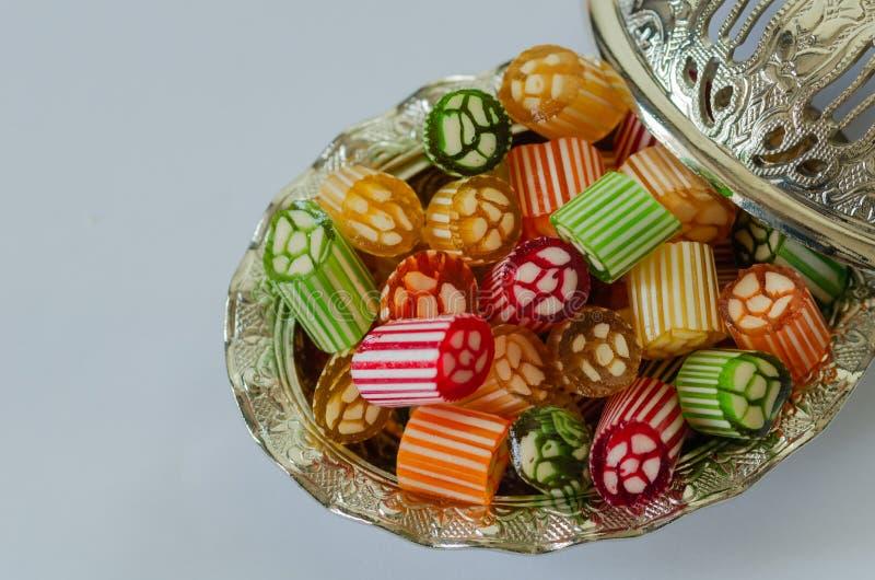 Festività Candy Caramelle dure variopinte e tradizionali ottomano/del turco immagine stock