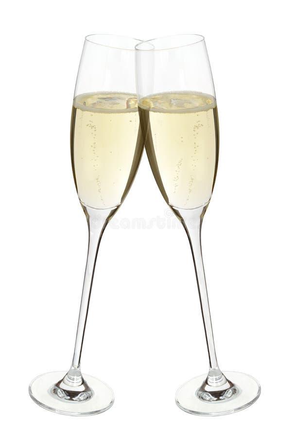 Festivité tintante bouchante de célébration de Champagne images stock