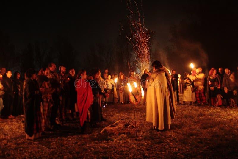 Festivités de Samhain images libres de droits