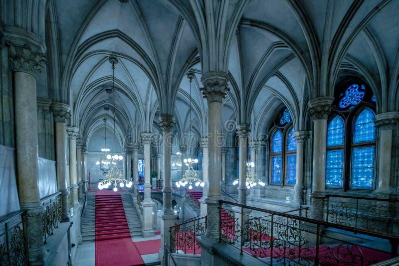 Festiviteitentreden in het Stadhuis van Wenen, Oostenrijk stock fotografie