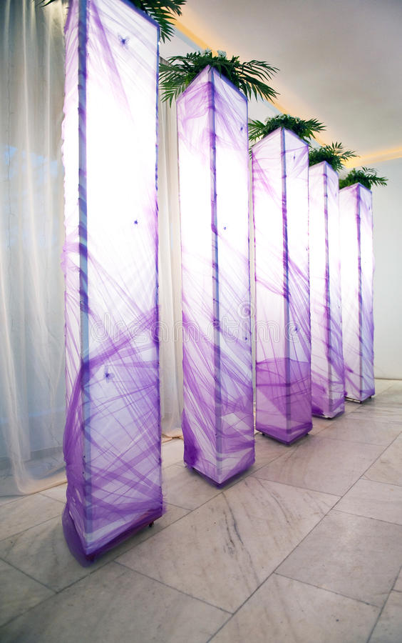 Festivity hall. Decorated for weeding royalty free stock images