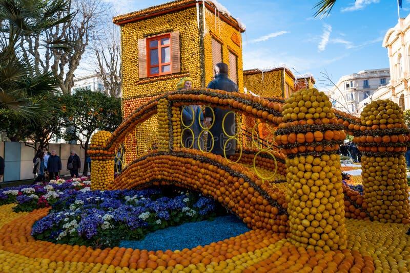 Festiwal cytryna, Francja fotografia royalty free