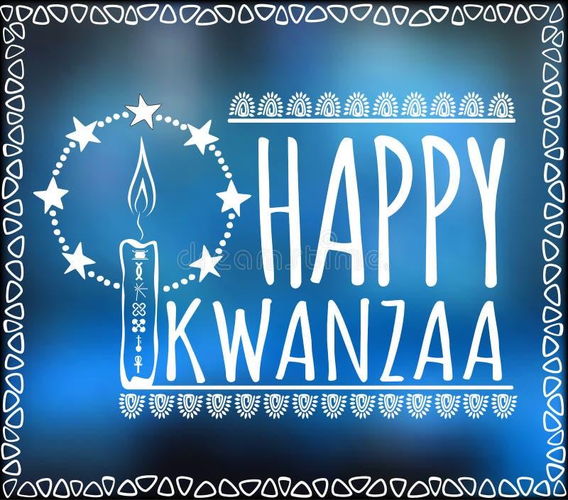 Festiwal Kwanzaa dodatkowy karcianego formata wakacje royalty ilustracja
