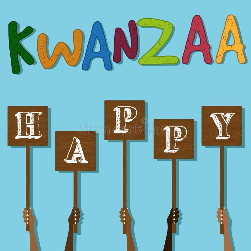 Festiwal Kwanzaa dodatkowy karcianego formata wakacje ilustracji