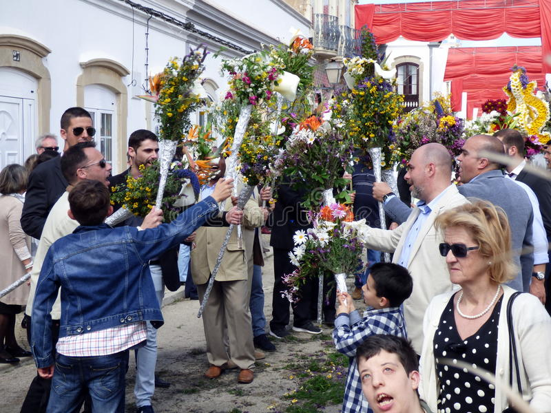 Festiwal kwieciste pochodnie fotografia royalty free