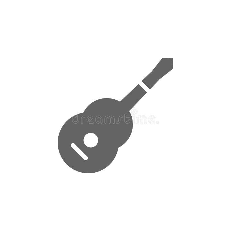 Festiwal muzyczny, akustyczny, ikona gitary Ikona festiwalu muzycznego Ikona projektu grafiki o wysokiej jakości Znaki i symbole royalty ilustracja