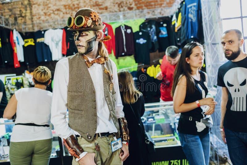 Festiwal nowożytnej popkultury KOMICZNY przeciw Ukraina Wrzesień 22, 2018 Kijów, Ukraina, zdjęcia royalty free
