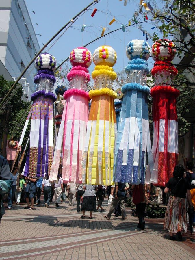 festiwal tanabata obrazy royalty free
