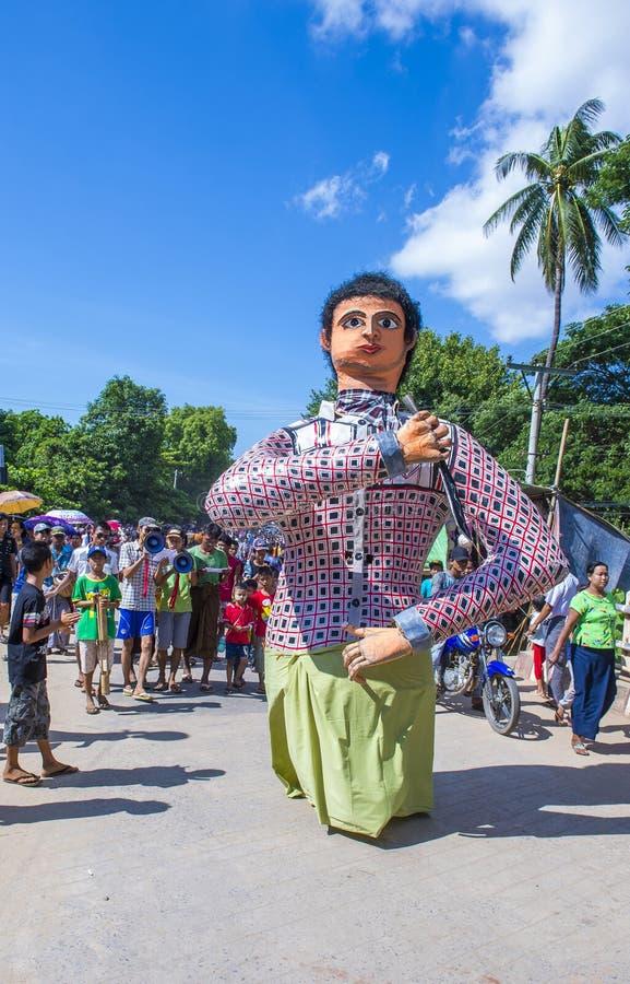 Festiwal w wiosce blisko bagan Myanmar obraz royalty free