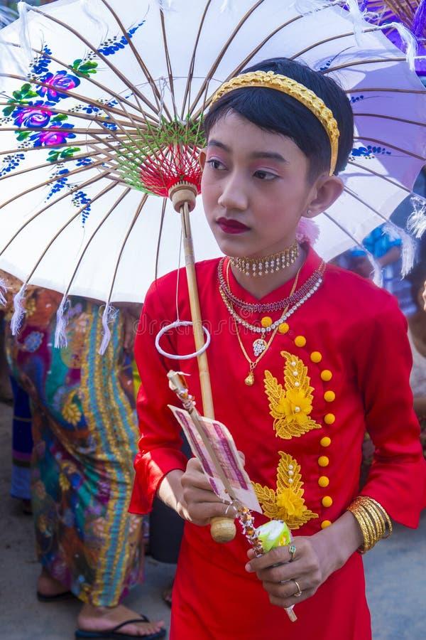 Festiwal w wiosce blisko bagan Myanmar zdjęcie royalty free