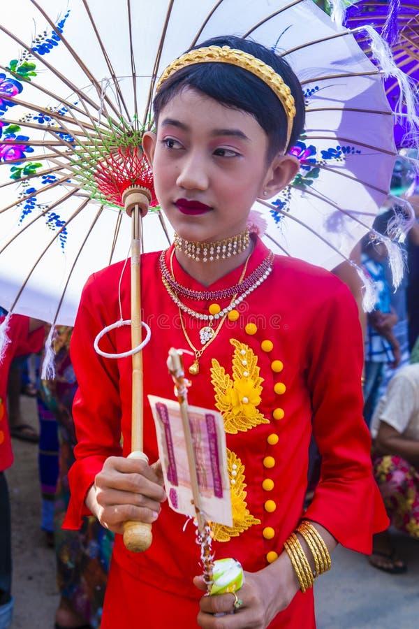 Festiwal w wiosce blisko bagan Myanmar obraz stock