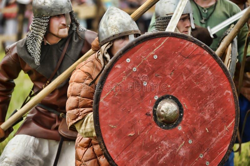 Festiwali/lów wczesnych wieków średnich Pierwszy kapitał Rosja obrazy stock