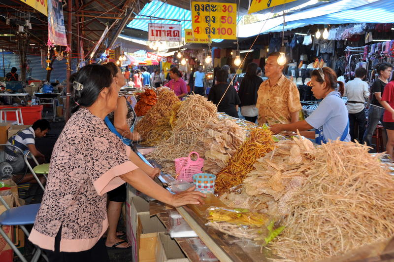 festiwalu foodseller nakhon pathom Thailand obraz royalty free