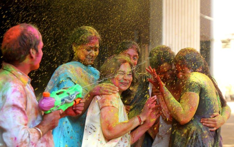 festiwalu holi fotografia stock