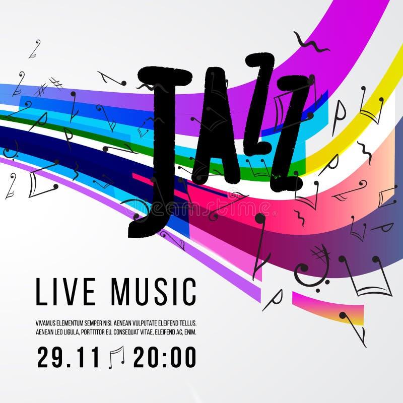 Festiwalu jazzowego plakata szablon Jazzowa muzyka saksofon Międzynarodowy jazzowy dzień spokojnie redaguje projekt elementów wek ilustracji