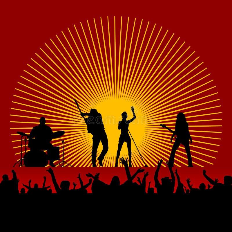 festiwalu muzyki wektor ilustracja wektor