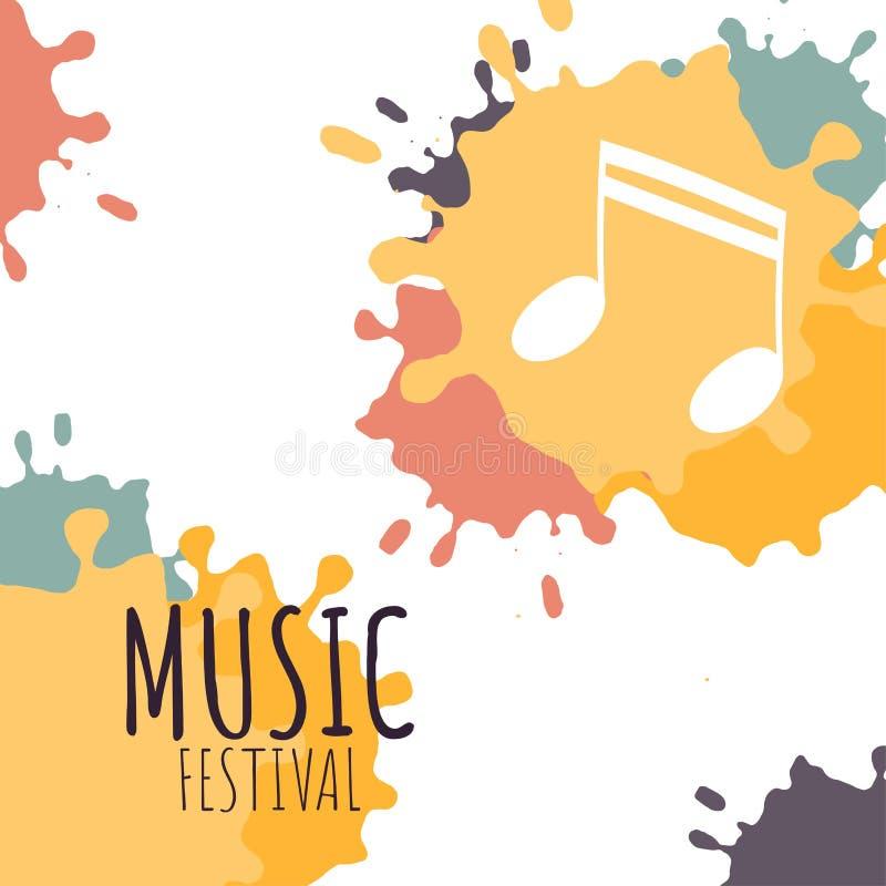 Festiwalu muzykiego pojęcia plakat ilustracji