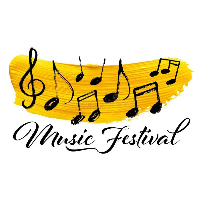 Festiwalu Muzykiego sztandaru wektorowy projekt ilustracja wektor