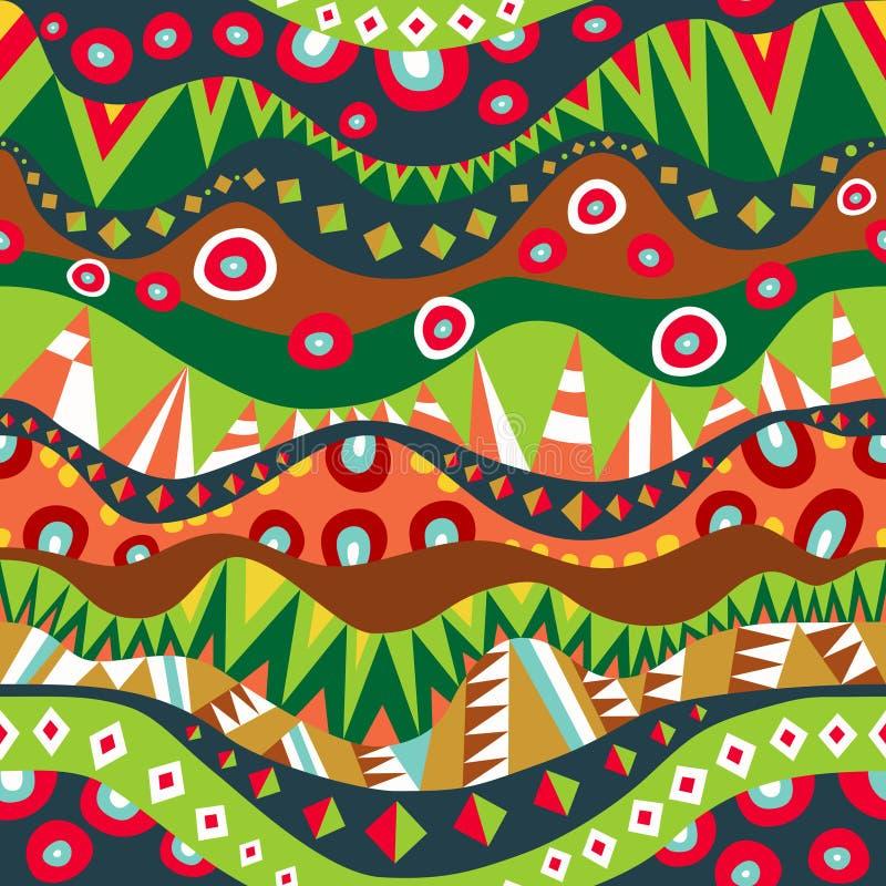 Festiwalu Plemienny Bezszwowy wzór ilustracja wektor