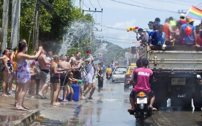 festiwalu przesławny songkran Thailand fotografia royalty free