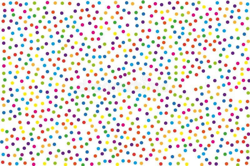 Festiwalu wzór z kolor round błyskotliwością, confetti Przypadkowa, chaotyczna polki kropka, również zwrócić corel ilustracji wek ilustracji