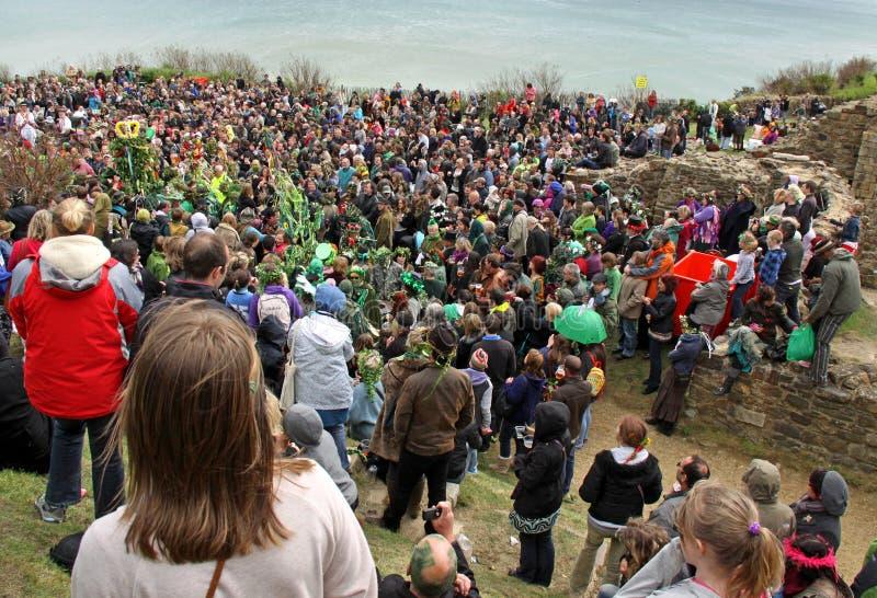festiwalu zieleni dźwigarki ludzie obrazy stock