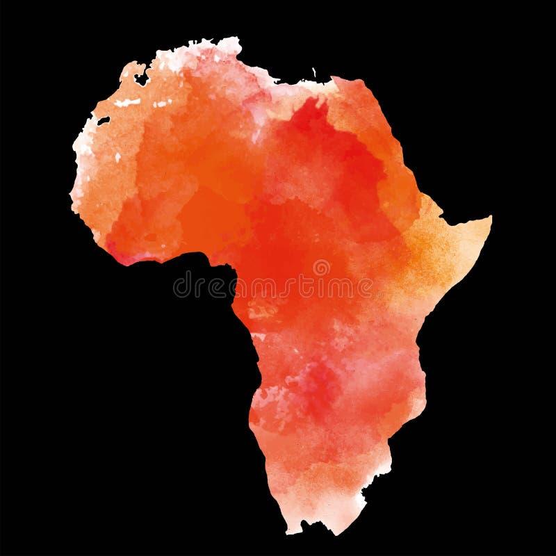 Festland Afrika auf einem schwarzen Hintergrund Auch im corel abgehobenen Betrag Strukturierte Vektorkarte von Afrika Stammes- Hi stock abbildung