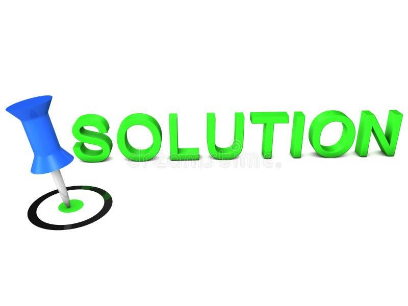 Festlegen einer Lösung lizenzfreie abbildung