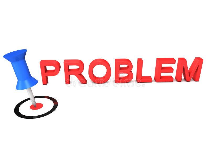 Festlegen eines Problems stock abbildung