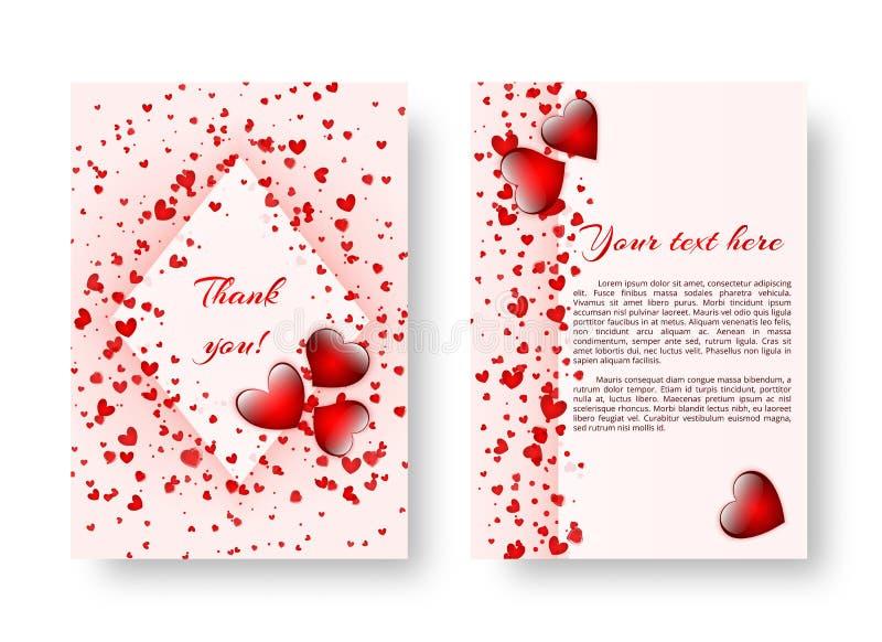 Festliche Broschüre mit St.-Valentinsgruß ` s Tag vektor abbildung