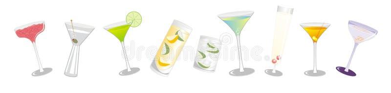 Festliche Cocktails Stockfotos