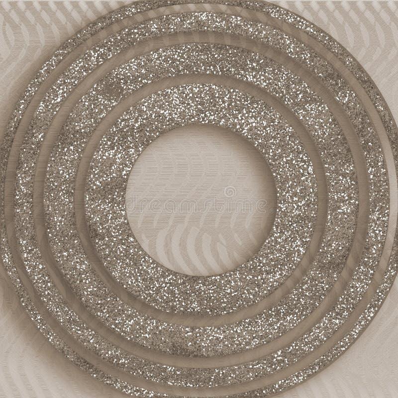 Festliche Dekorkartenschablone Digitales Papier der ethnischen Art Altes Blatt der Weinlese Glittery Wandkunst Abstraktes Design  stockfoto