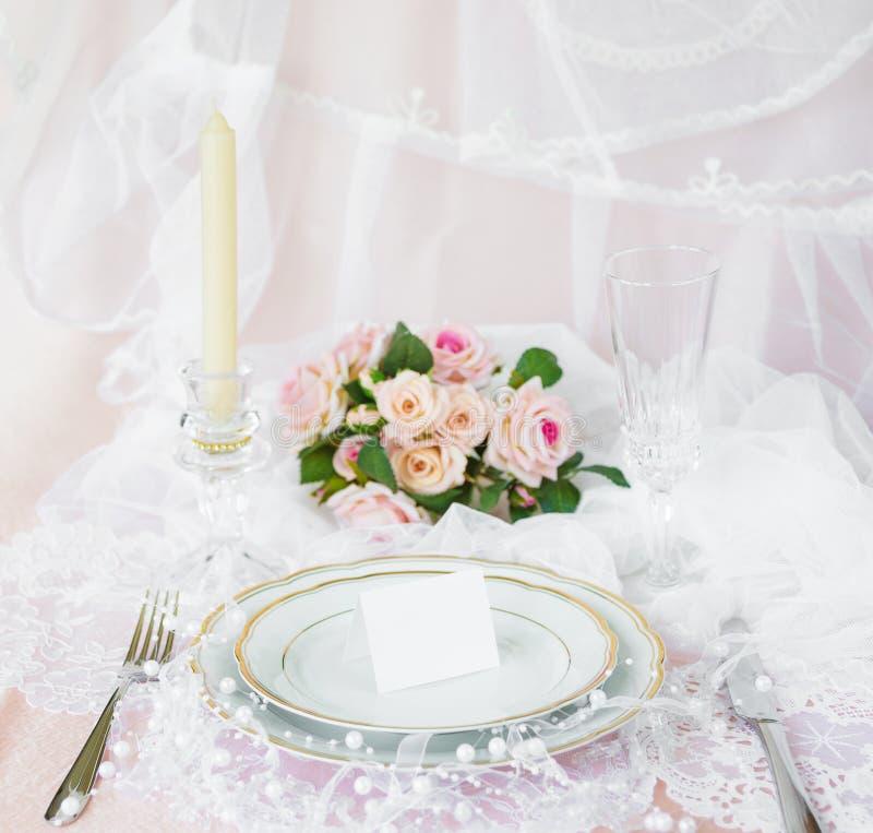 Festliche Hochzeit, Geburtstagsgedeck stockfotos